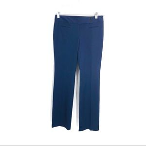 Loft Marisa navy blue straight leg pants
